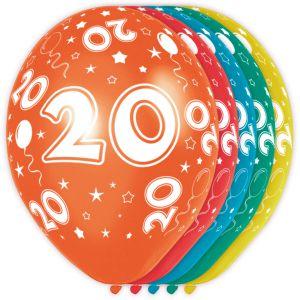 (l) Ballonnen 20 Jaar (12 stuks)