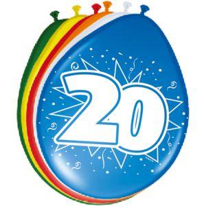 Lucht Latex Ballonnen 16 Jaar (8 stuks)