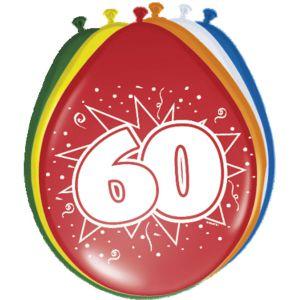 Lucht Latex Ballonnen 60 Jaar (8 stuks)