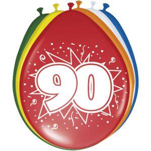 Lucht Latex Ballonnen 45 Jaar (8 stuks)