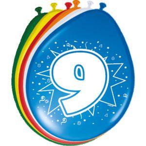 Lucht Latex Ballonnen 7 Jaar (8 stuks)