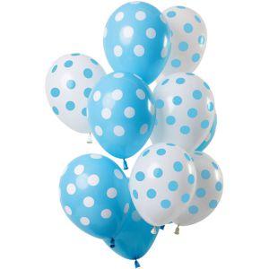 Latex ballonnen transparant met gouden stippen