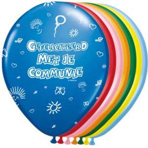 Ballonnen Communie Meerkleurig 8 stuks