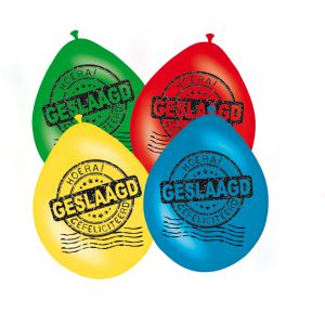 Latex ballonnen Hoera #Hoera #Geslaagd #Feest