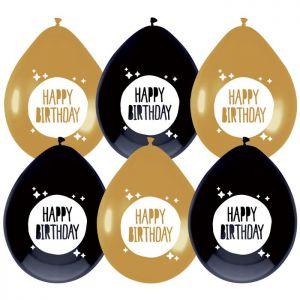 Latex ballonnen Metallic Rose Goud Happy Birthday