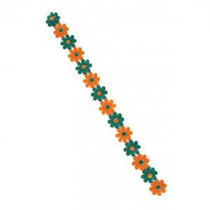 Bloemenband oranje/groen