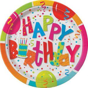 Bordjes Happy Birthday Jamboree 17,5 cm