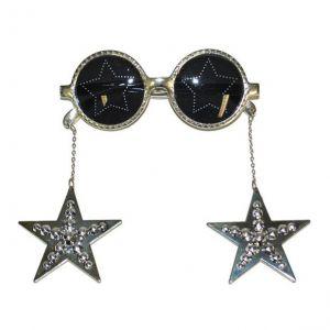 Bril met sterren zilver