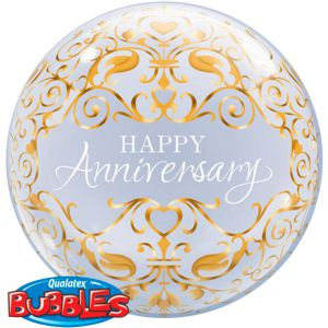 Folieballon bubbles Happy Anniversary