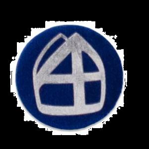 Button Mijter Donkerblauw