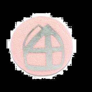 Button Mijter Lichtroze