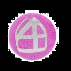 Button Mijter Roze