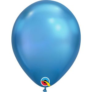 Qualatex Chrome Blauwe ballonnen