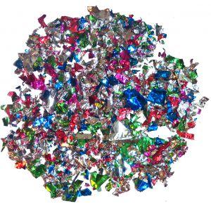 Confetti Folie ass. kleuren 100 Gram