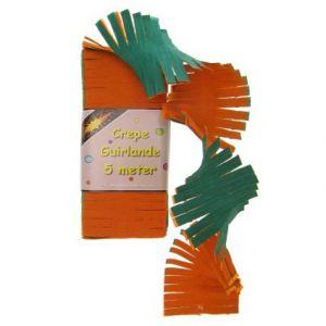Crepe Slinger Oranje/Groen 5 Meter
