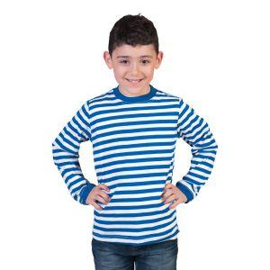 Dorus shirt Blauw/Wit Kinderen