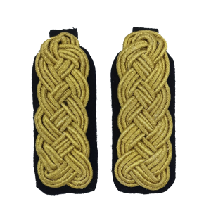 Schouder epaulette goud/zwart