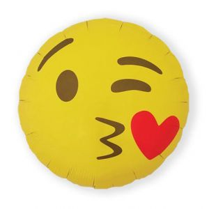 Folieballon Emoticon Kusje