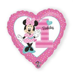 Folieballon 1 jaar Minnie Mouse