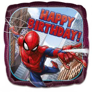 Gevulde Folieballon Spiderman Happy Birthday