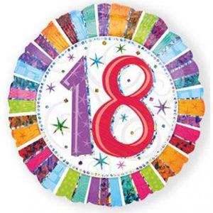 Folieballon Radiant 18 jaar