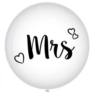 Latex ballon Mrs XL