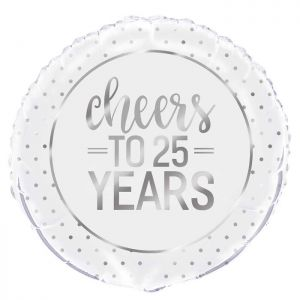Folieballon Cheers to 25 years