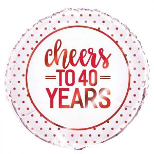 Folieballon Cheers to 40 years