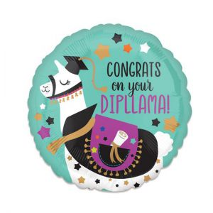 Folieballon Geslaagd Congrats on your Dipllama
