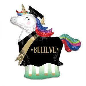 Folieballon Geslaagd Eenhoorn Believe