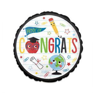 Folieballon Geslaagd Hooray Congrats