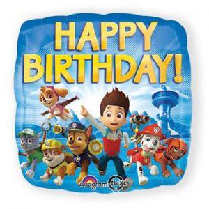 Folieballon Happy Birthday Paw Patrol
