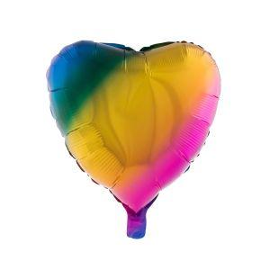 Folieballon Hart Regenboog