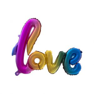Folieballon Regenboog Love XXL