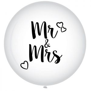 Latex ballon Mr & Mrs XL
