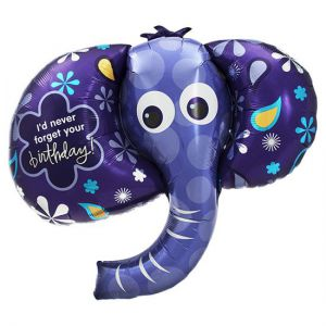 Folieballon Olifant Happy Birthday