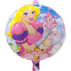 Folieballon Prinses roze