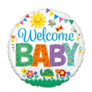 Folieballon Welcome Baby