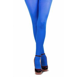 Gekleurde panty volwassenen Blauw