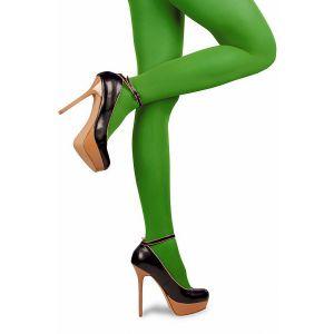 Gekleurde panty volwassenen Groen