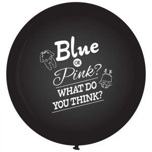 Gender Reveal ballon 90 cm.