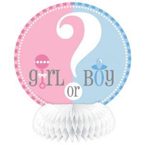 Gender Reveal Girl or Boy mini honeycomb