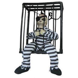 Bewegende Gevangene in kooi met licht en geluid
