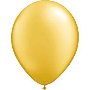 Latex Ballonnen 13 cm Metallic goud (20 stuks)