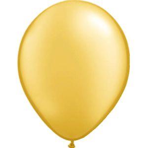 Ballonnen nr. 14 Goud Metallic (10 stuks)
