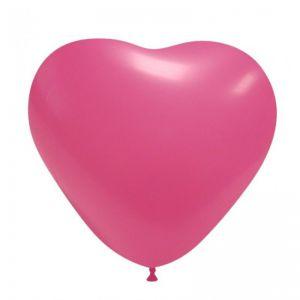 Ballonnen Hart fuchsia roze (10 stuks) 45 cm