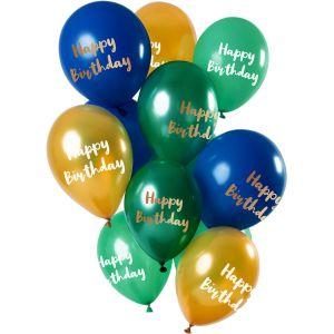 Latex ballonnen zwart-wit met stippen