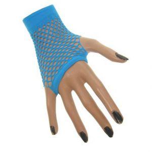 Nethandschoen vingerloos Neon Blauw
