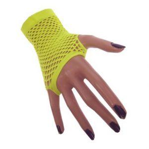 Nethandschoen vingerloos Neon Geel
