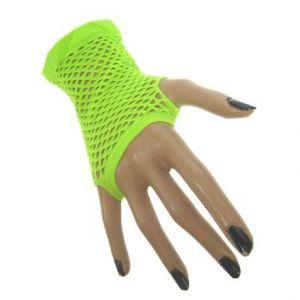 Nethandschoen vingerloos Neon Groen